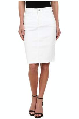 NYDJ White Denim Skirt