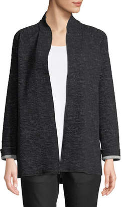 Eileen Fisher Ridged High-Collar Jacket
