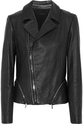 Elie Tahari Emalia Leather Biker Jacket
