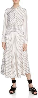 Maje Revolve Striped Midi Shirt Dress