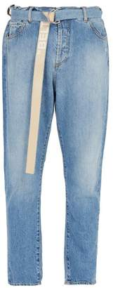 Off-white - Slim Fit Jeans - Mens - Light Blue