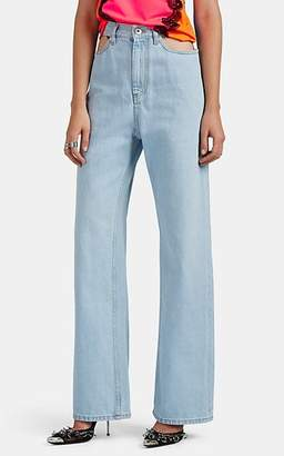 Maison Margiela Women's Cutout Wide-Leg Jeans - Lt. Blue
