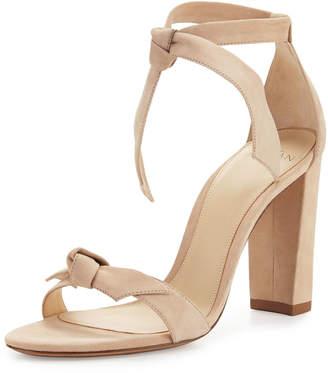 Alexandre Birman Clarita Suede Block-Heel Sandals, Neutral