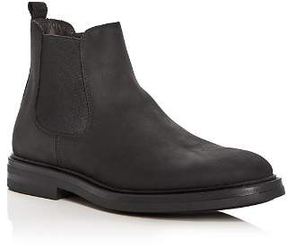 a. testoni A.Testoni Men's Waterproof Nubuck Leather Chelsea Boots