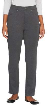 Liz Claiborne New York Petite Ponte Knit Slim Leg Pants