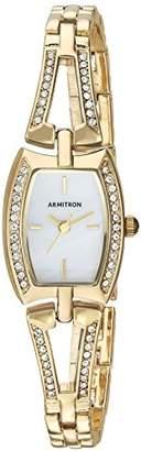 Armitron Sport Armitron Women's 75/5502MPGP Swarovski Crystal Accented -Tone Open Bangle Watch