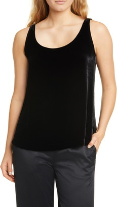 Eileen Fisher Scoop Neck Velvet Tank