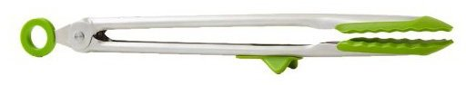 "Tovolo 13"" Tip Top Tongs, Green"