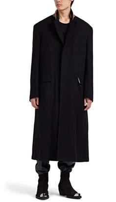 Haider Ackermann Men's Wool Fleece Oversized Quilt-Lined Coat