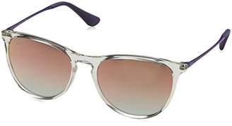 Ray-Ban Girls' Plastic Woman Non-Polarized Iridium Round Sunglasses