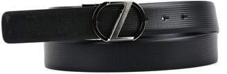Ermenegildo Zegna Black Leather Belt