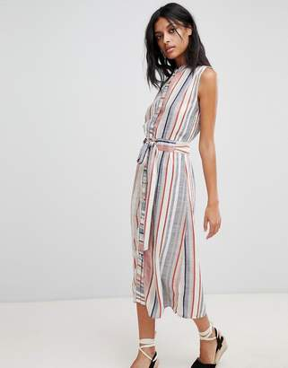 Warehouse Stripe Linen Shirt Dress