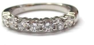 Tiffany & Co. 950 Platinum .56ct. Diamond Shared Setting Wedding Band Ring 7