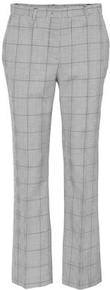 RED Valentino Plaid virgin wool pants