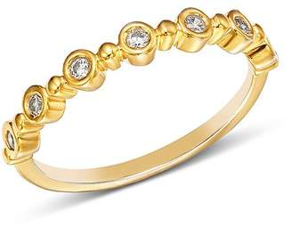 Bloomingdale's Diamond Bezel Beaded Stacking Ring in 14K Yellow Gold, 0.10 ct. t.w. - 100% Exclusive