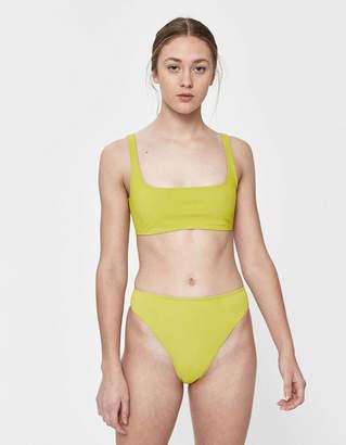 Rochelle Sara Sofia High-Waisted Swim Bottom in Chartreuse