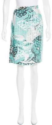 Jonathan Saunders Abstract Printed Pleated Skirt