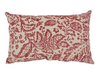 Fairhaven Red Rectangular Throw Pillow