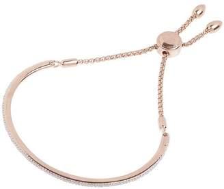 Monica Vinader Rose Gold-Plated Petite Fiji Skinny Diamond Bar Bracelet