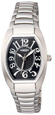 Aureole [オレオール トノー3針クォーツ レディース腕時計 文字盤カラー:ブラック SW-488L-1