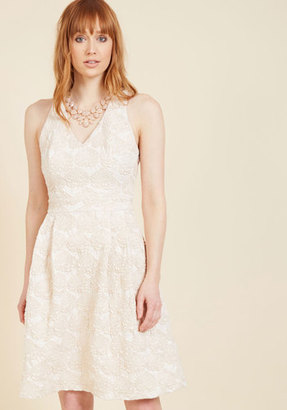 ModCloth Posh Presence A-Line Dress in Champagne in S $119.99 thestylecure.com