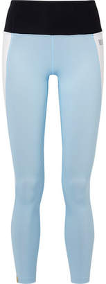 Monreal London Asana Color-block Stretch Leggings - Sky blue