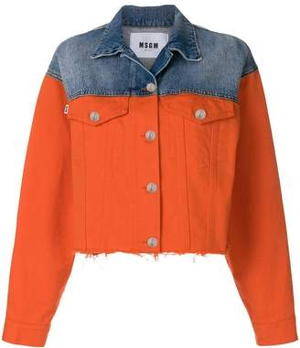 MSGM two-tone denim jacket