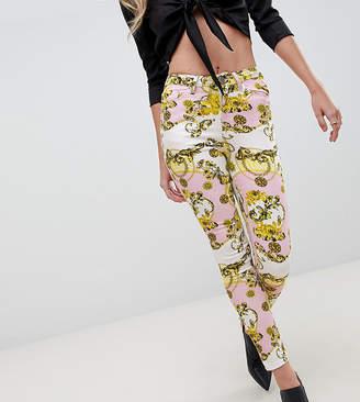 Asos Design DESIGN Ridley high waist skinny jeans in scarf print