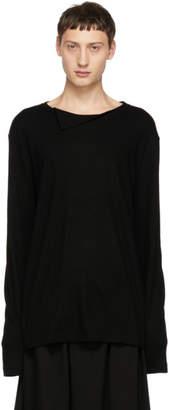 Yohji Yamamoto Black Collar T-Shirt