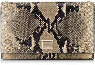 Jimmy Choo LIZZIE White Sand Printed Leather Mini Bag with Star and Stud Trim