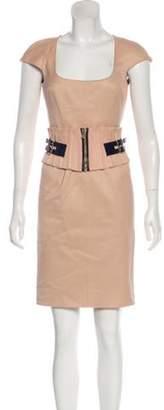 Dolce & Gabbana Belted Mini Dress Belted Mini Dress