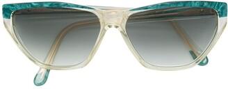 Saint Laurent Pre-Owned 1980's geometric sunglasses
