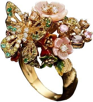 Anabela Chan Butterfly Bouquet Ring