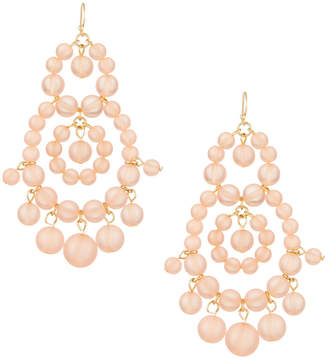 Fragments for Neiman Marcus Beaded Statement Earrings, Peach