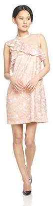 Lily Brown (リリー ブラウン) - [リリーブラウン] ワンショルダーAラインワンピース LWFO181129 PNK 日本 0-(日本サイズ7 号相当)