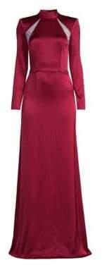 Alice + Olivia Women's Charita Mockneck Gown - Bordeaux - Size 0