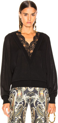 Chloé Lace Sweater in Black | FWRD