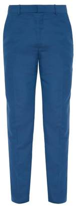 Alexander McQueen Wool Blend Suit Trousers - Mens - Blue