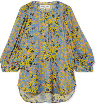 Apiece Apart Everlasting Printed Voile Blouse - Yellow