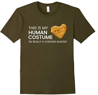 Funny Human Costume Chicken Nugget T Shirt