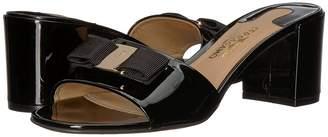 Salvatore Ferragamo Calfskin Mid-Heel Sandal High Heels