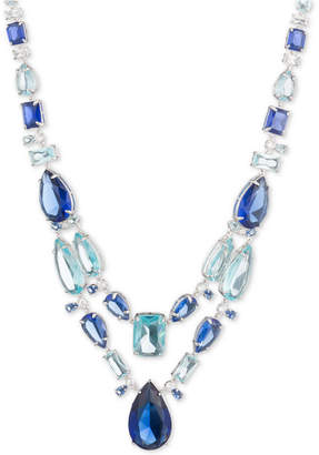 "Carolee Silver-Tone Stone 16"" Statement Necklace"