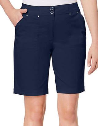 Karen Scott Cotton-Blend Knit Shorts