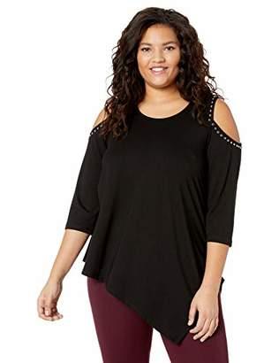 96b5a4df904 Karen Kane Women s Plus Size Cold Shoulder Studded TOP