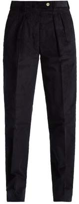 Giuliva Heritage Collection - Husband Slim Fit Corduroy Trousers - Womens - Navy