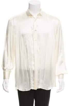 Stefano Ricci Silk French Cuff Shirt