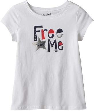 "Girls 4-10 Jumping Beans Short Sleeve ""Free to be Me"" Foil Graphic Tee"