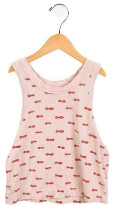 The Animals Observatory Girls' Printed Sleeveless Top