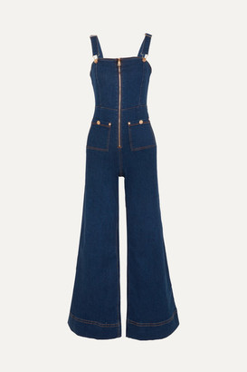 Alice McCall Quincy Stretch-denim Overalls - Dark denim