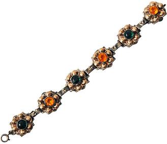 One Kings Lane Vintage Sterling Silver Floral Link Bracelet - Maeven